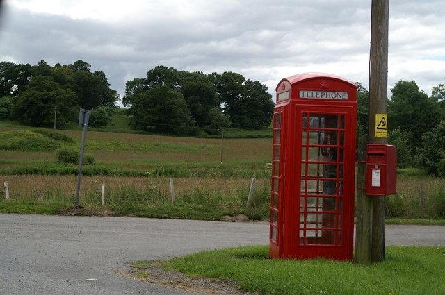 Clunie phone box and postbox