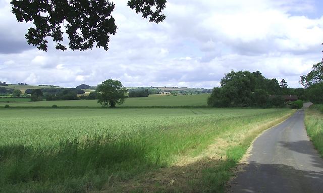 Towards Corve Barn, Shropshire