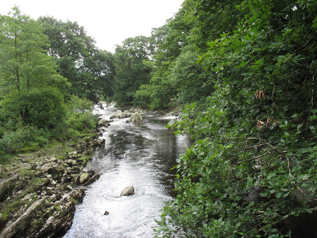 View downstream from the Ganllwyd footbridge