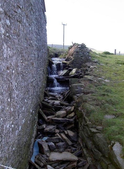 Burn (stream) at Mill Cottage, Westside, Westray