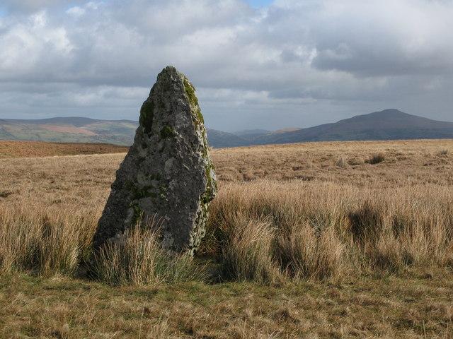 Standing stone Carreg Waun Llech