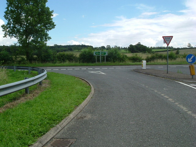 Road junction at Sudborough