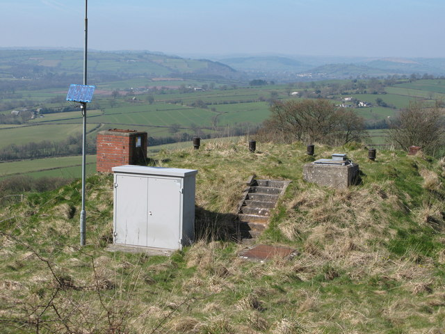 Reservoir on Allt-yr-Esgair overlooking Usk valley