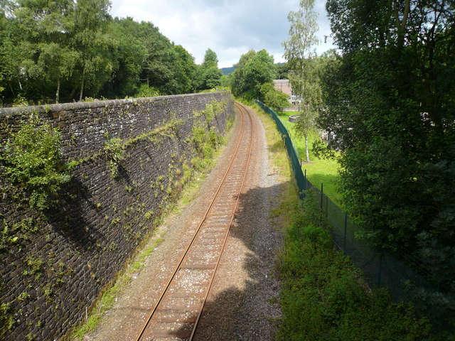 Railway Line heading towards Matlock