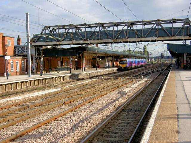 Looking from platform 3A, North Doncaster Railway Station