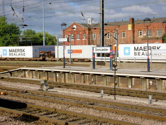 Platform 4 Doncaster Railway Station.
