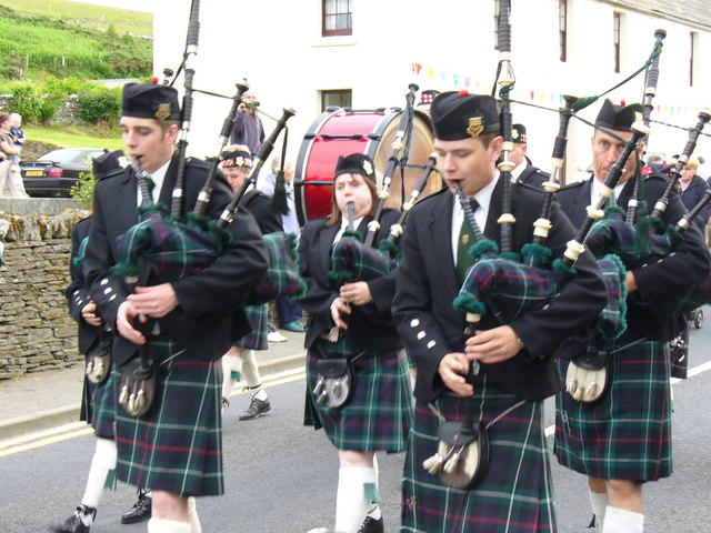 Pipe Band at Finstown Gala