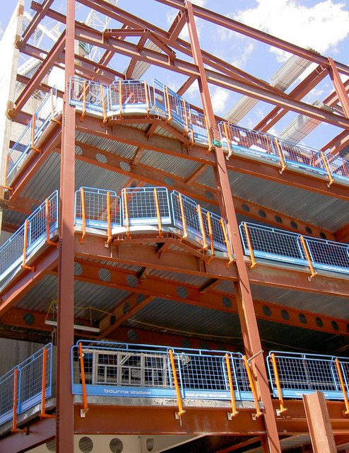 Steel frame by Bourne Steel on High Holborn.