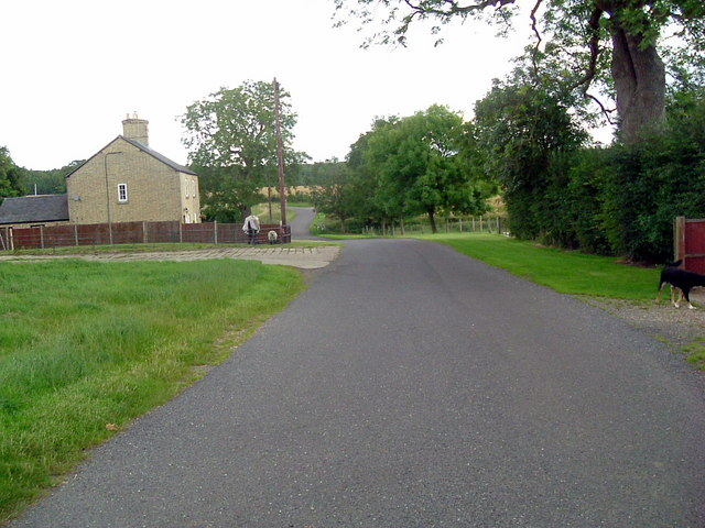 Road at Salome lodge farm