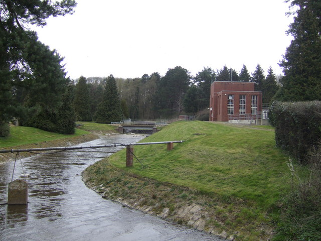 Water works and overflow channel