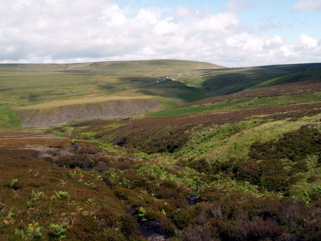 Far Small Clough looking to the A628 Road