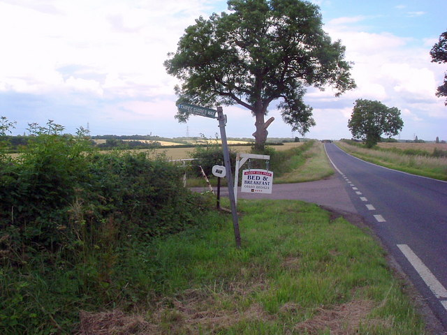 Three shires way signpost