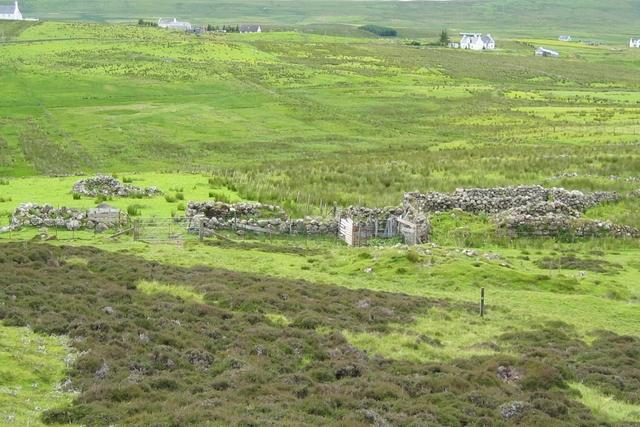 Sheep fanks at Kilvaxter