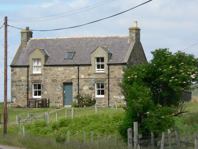 Traditional stone house at Leckfurin