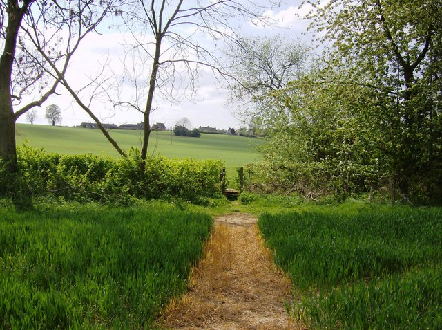 Footpath towards Farthingstone