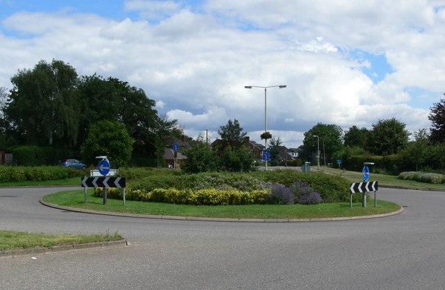 Ratby Lane roundabout, Kirby Muxloe