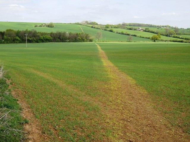 Footpath across England