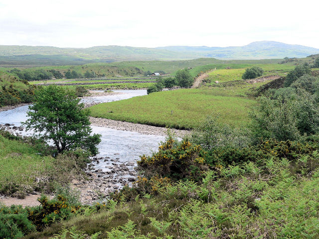 Attractive bend in the River Naver