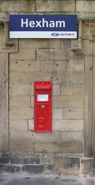 Victorian postbox on Hexham station
