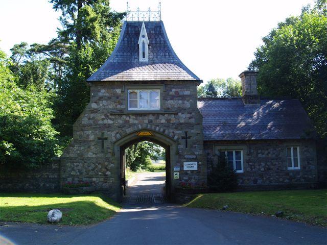 Llanarth Court main gate