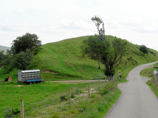 Small hill by roadside