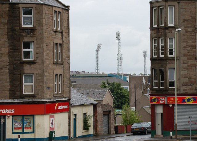 Tenements and floodlights