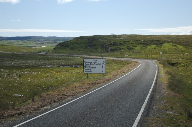 The C39 Road near Timsgearraidh