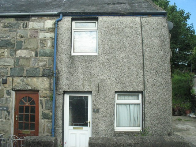 A two-up two-down former quarryman's terraced cottage