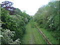 SP7227 : Disused railway near Sandhill by Andy Gryce