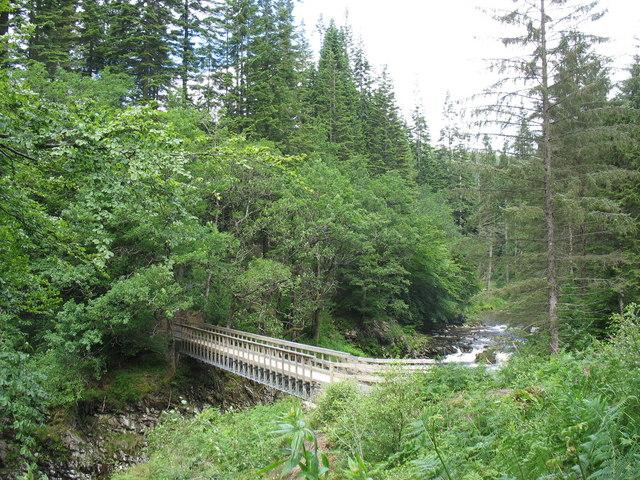 First view of the Mawddach Aerial Mast Bridge
