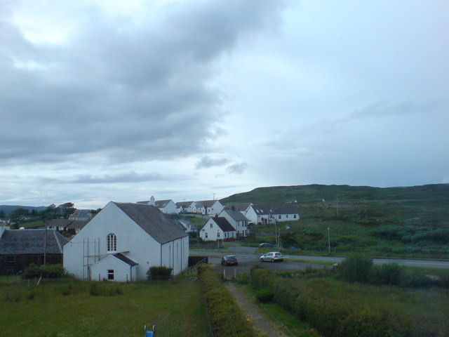 Lonmore village and Free Church of Scotland