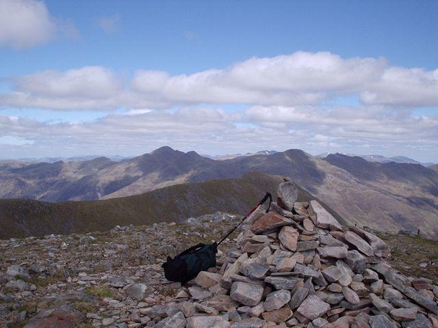 The summit cairn of Sgurr na Sgine