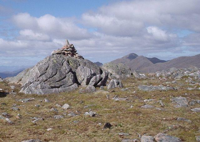 Summit cairn of Sgurr a' Bhac Chaolais