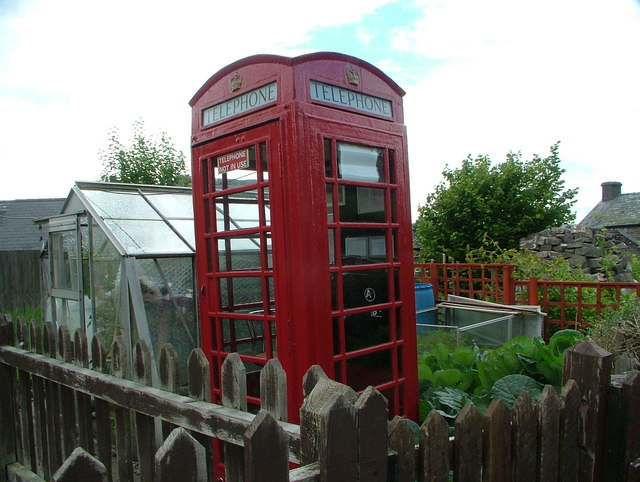 Defynnog, Phone Box in Garden