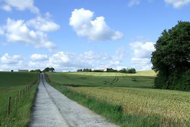Farm Road to Wheatlands, Shropshire