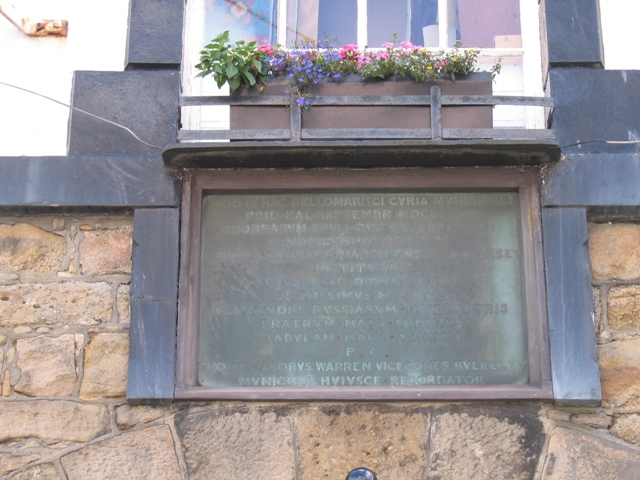 Plaque on the Town Hall