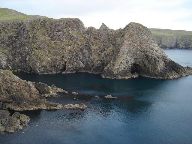Cliffs near Huxter, Shetland