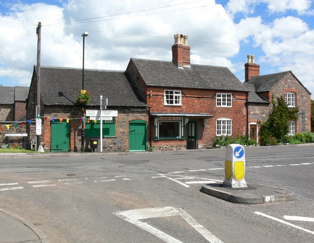 Road junction in Groby