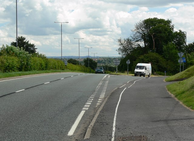 The A50 north of Groby