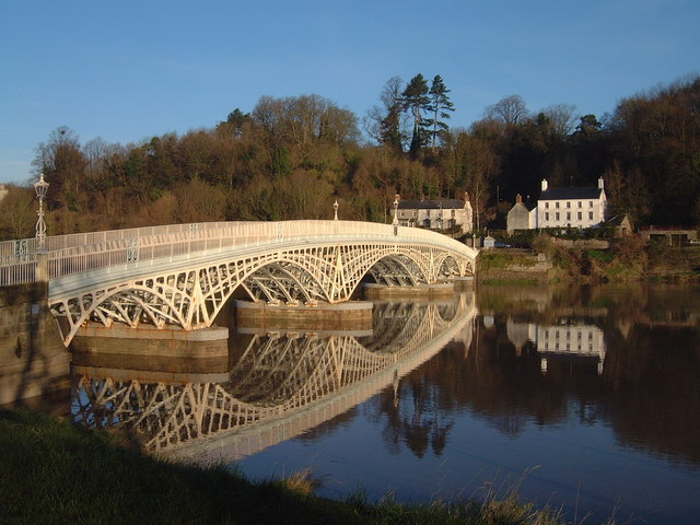 High tide at Chepstow Bridge