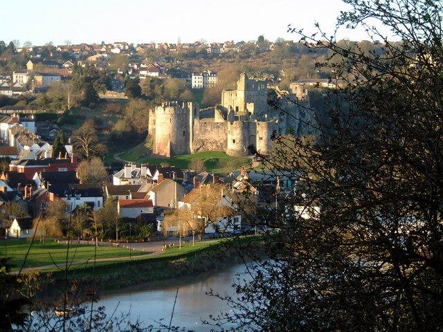 Chepstow Castle and the Bridge Inn