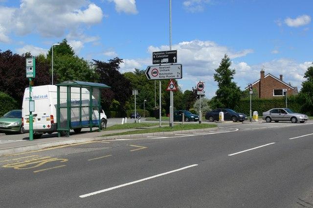 Road junction in Desford