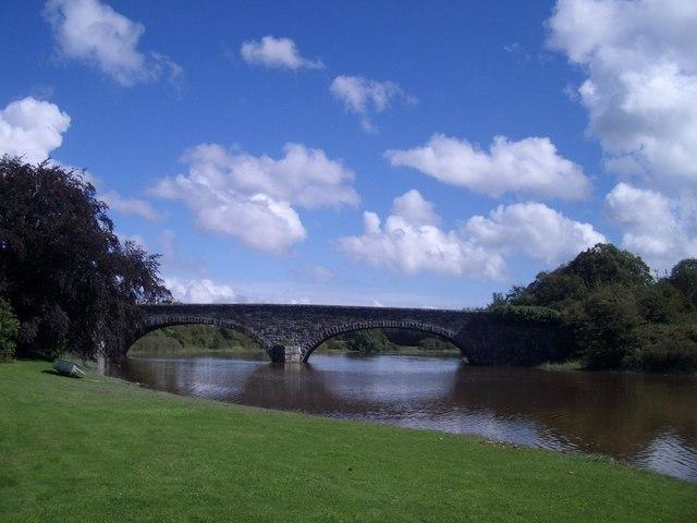Bladnoch: the bridge downriver of the Distillery
