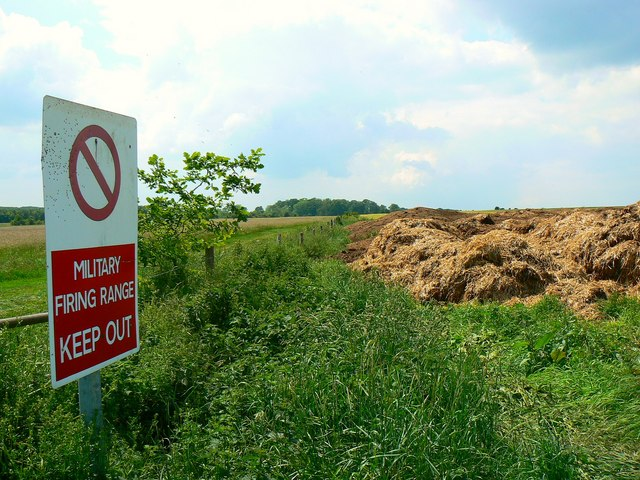Along the northern edge of the Danger Area near Imber