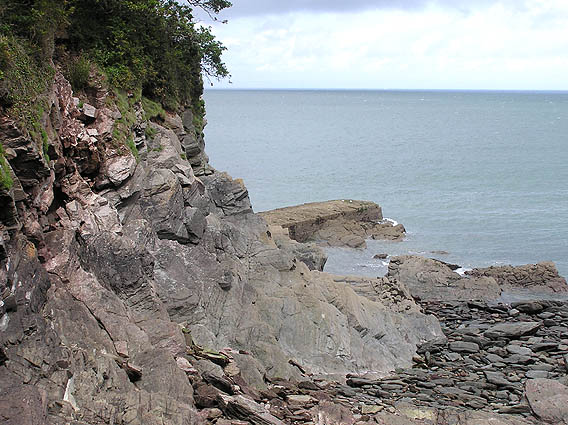Remains of old pier at Woody Bay
