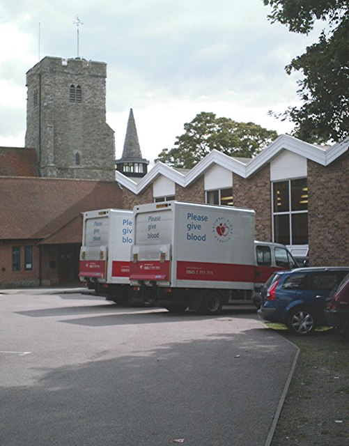 Giving blood at Holy Trinity, Rayleigh