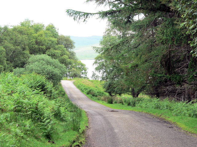 Road beside Loch Naver