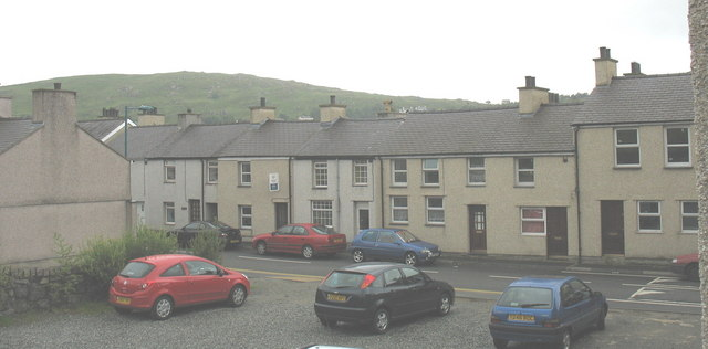 Houses in the High Street of this former slate quarrying village