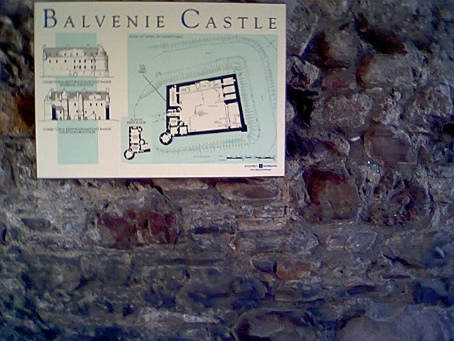 Plan of Balvenie Castle