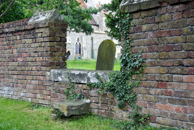 A stone stile into Chislet churchyard